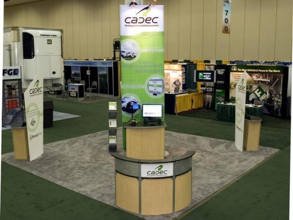 RE-9007 Rental Exhibit / 20� x 20� Island Trade Show Display � Image 3