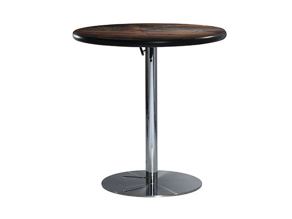 "30"" Round Café Table w/ Wood Counter Top and Hydraulic Base -- Trade Show Furniture Rental"