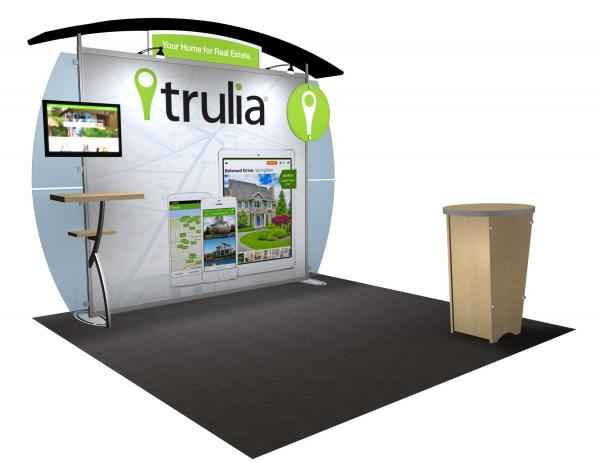VK-1232 Portable Hybrid Trade Show Exhibit -- Convex Wings