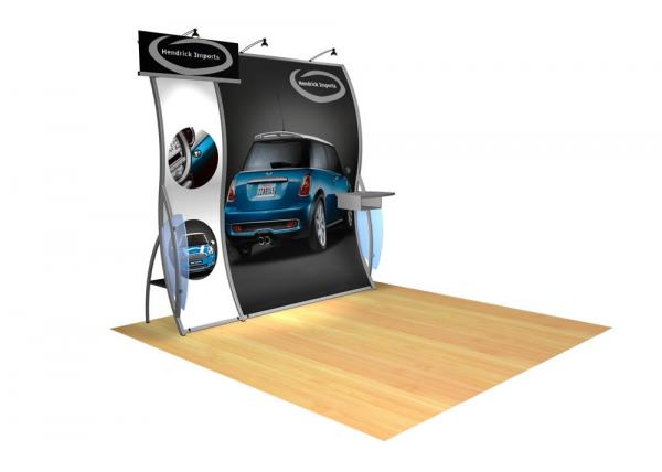 Perfect 10 VK-1503 Portable Hybrid Trade Show Display -- Image 2 (rectangle header)