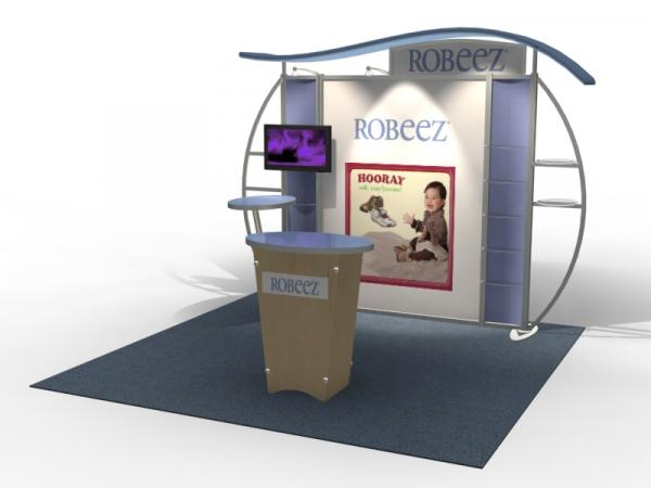 VK-1314 Trade Show Exhibit with Silicone Edge Graphics (SEG) -- Image 1