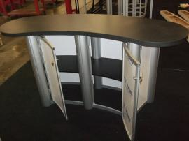 MOD-1183 Modular Counter with Locking Storage and Shelf -- Image 2