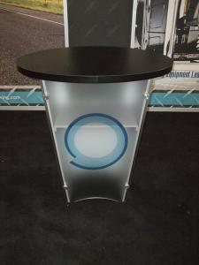 VK-2109 Sacagawea Portable Hybrid Display with Tension Fabric Graphics and LTG-1001 Modular Pedestal with Shelf -- Image 2