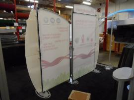 VK-1235 Sacagawea Portable Hybrid Display with Custom Header and Tension Fabric Graphics -- Image 2
