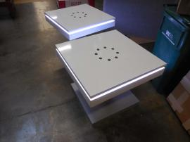 MOD-1434 Charging Station Coffee Table with LED Perimeter Lights -- Image 1