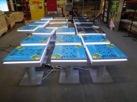 (8) MOD-1434 and (12) MOD-1433 Charging Stations with Graphics and LED Perimeter Lights