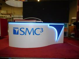 Custom Reception Counter with Programmable LED Lights