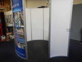 8 ft. Diameter Circular Conference Room with Locking Door and Sintra Infill Graphics,