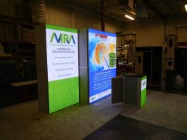 VK-1971 SuperNova LED Lightbox Displays with Tension Fabric Graphics and MOD-1701 Backlit Counter with Locking Storage