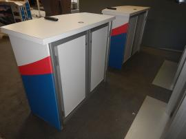 (2) RE-1558 Gravitee Counters with Locking Doors and Interior Shelves