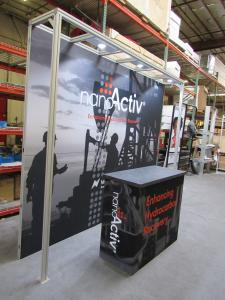 Custom 10 ft. Inline with Puck Lights, Tension Fabric Graphic, and GOD-1558 Modular Counter