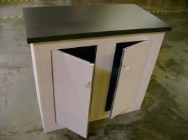 Modular Euro LT Fabric Counters with Locking Storage