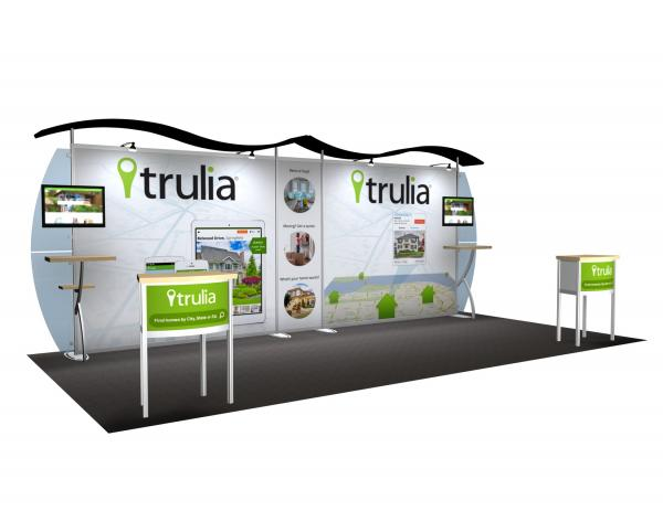 VK-2114 Portable Hybrid Trade Show Exhibit -- Convex Wings