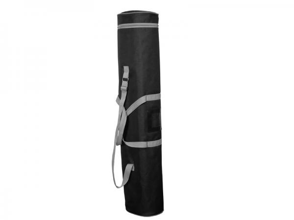 PRONTO2 2-Sided Retractable Banner Stand Case - Padded Carry Bag - Black with Silver Piping