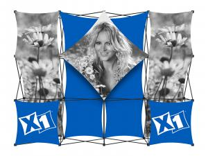 X1 10ft - 4x3 B Fabric Pop-Up Display