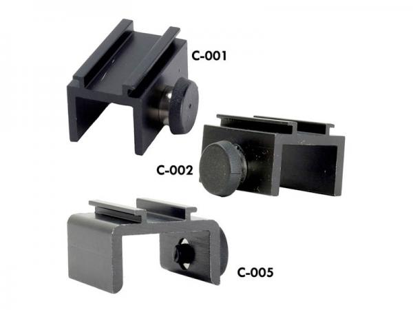 C-001, C-002, C-005:  Panel or Hardwall Clips - Fixed Sizes
