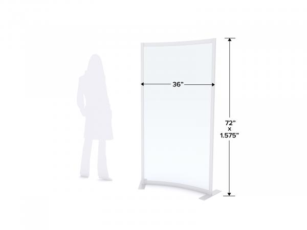 MOD-8010 Safety Divider Dimensions