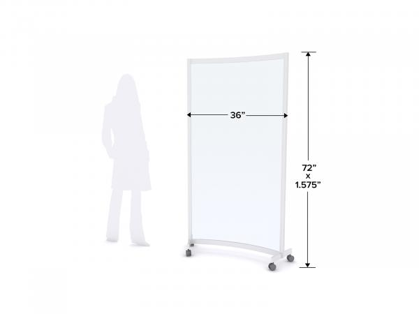 MOD-8011 Safety Divider Dimensions