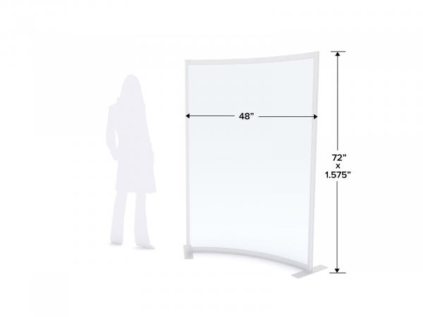MOD-8012 Safety Divider Dimensions