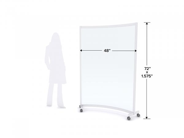 MOD-8013 Safety Divider Dimensions