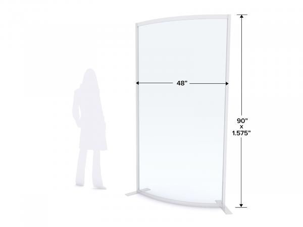 MOD-8016 Safety Divider Dimensions