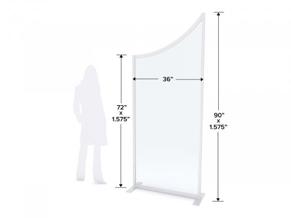 MOD-8022 Safety Divider Dimensions