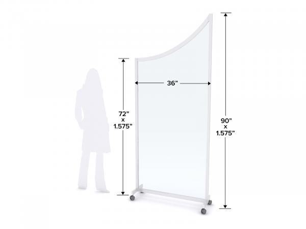 MOD-8023 Safety Divider Dimensions