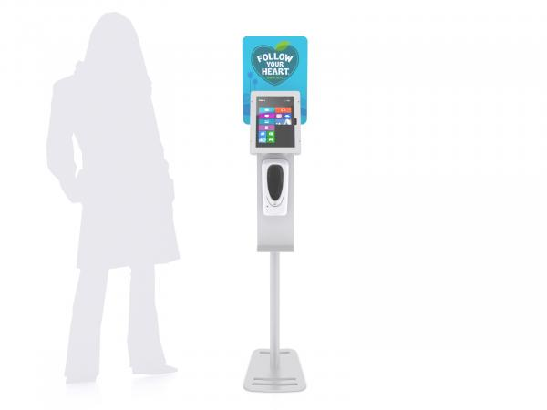 MOD-1379M Hand Sanitizer / iPad Stand -- View 2