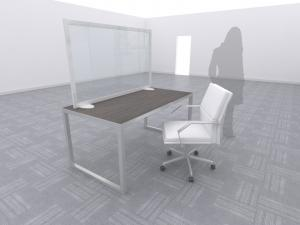 Temporary Desktop Safety Divider (Silver) -- Image 1