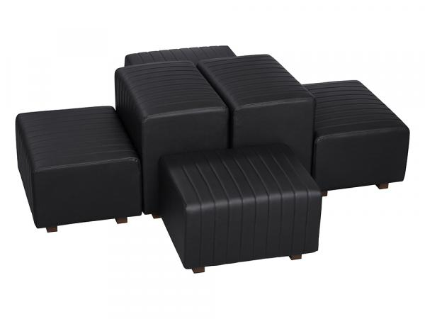Black Vinyl -- Beverly Oasis Small Grouping -- CESS-102 -- Trade Show Furniture Rental