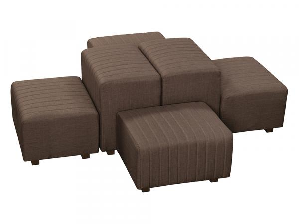 Brown Fabric -- Beverly Oasis Small Grouping -- CESS-103 -- Trade Show Furniture Rental