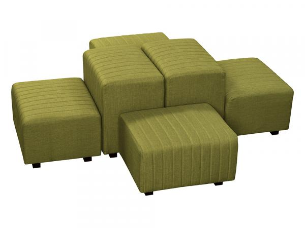 Olive Green Fabric -- Beverly Oasis Small Grouping -- CESS-104 -- Trade Show Furniture Rental