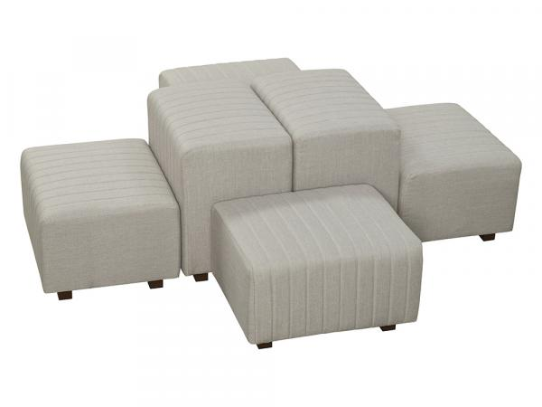 Gray Fabric -- Beverly Oasis Small Grouping -- CESS-105 -- Trade Show Furniture Rental