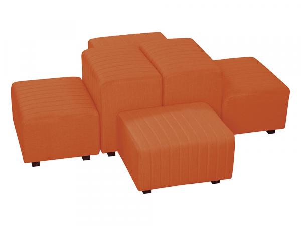 Orange Fabric -- Beverly Oasis Small Grouping -- CESS-107 -- Trade Show Furniture Rental