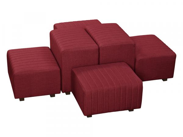 Red Fabric -- Beverly Oasis Medium Grouping -- CESS-108 -- Trade Show Furniture Rental