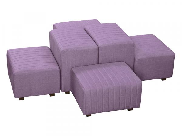 Lavender Fabric -- Beverly Oasis Small Grouping -- CESS-109 -- Trade Show Furniture Rental