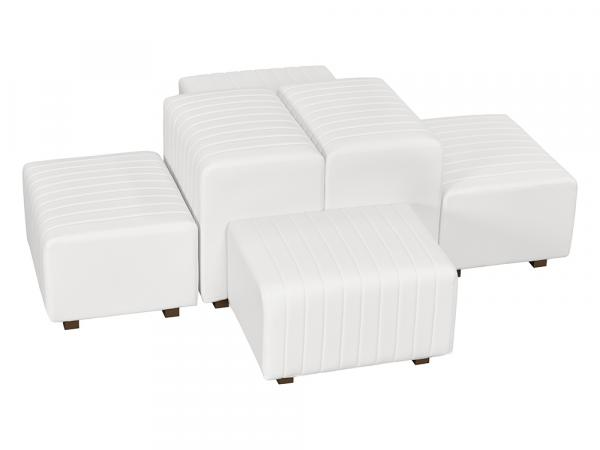 White Vinyl -- Beverly Oasis Small Grouping -- CESS-110 -- Trade Show Furniture Rental