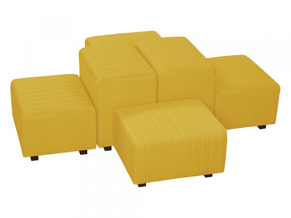 Yellow Fabric -- Beverly Oasis Medium Grouping -- CESS-110 -- Trade Show Furniture Rental