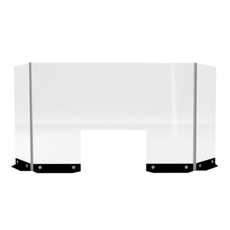 Clear Divider, Bar/Counter (CEAC-022) -- Trade Show Rental Furniture