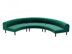 Endless Large Curve Low Back Sofa -- Trade Show Furniture Rental