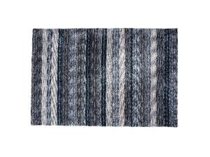 Lapis Rug with Blue, Cream Stripe (CEAC-041) -- Trade Show Rental Furniture