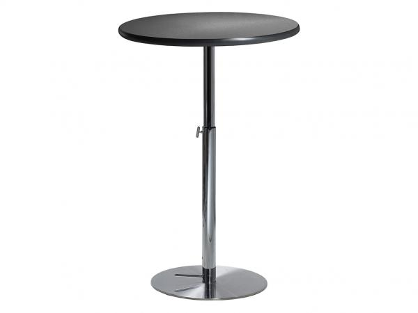 "30"" Round Bar Table w/ Brushed Gunmetal Top and  Hydraulic Base  (CEBT-026)