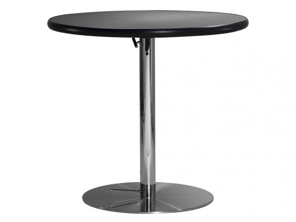 "30"" Round Cafe Table w/ Brushed Gunmetal Top and Hydraulic Base (CECA-022)