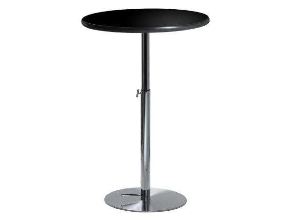 "30"" Round Bar Table w/ Black Top and Hydraulic Base (CEBT-027)