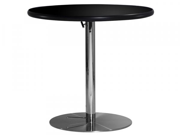 "30"" Round Cafe Table w/ Black Top and Hydraulic Base (CECA-023)