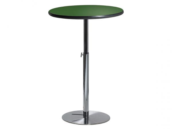 "30"" Round Bar Table w/ Green Top and Hydraulic Base (CEBT-030)