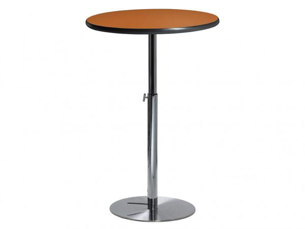 "30"" Round Bar Table w/ Orange Top and Hydraulic Base  (CEBT-032)