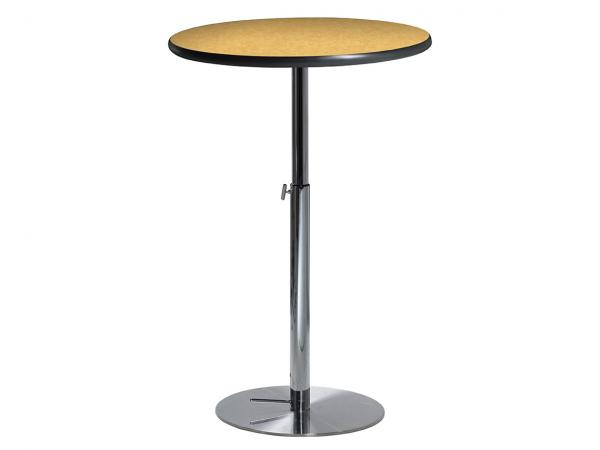 "30"" Round Bar Table w/ Brushed Yellow Top and  Hydraulic Base (CEBT-034)