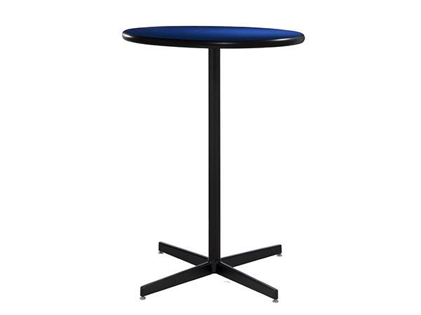 "30"" Round Bar Table w/ Blue Counter Top and Standard Black Base