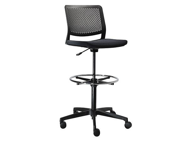 Task Stool in Black-- Trade Show Rental Furniture